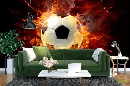 Каталог фотообоев Фотообои Мяч в огне