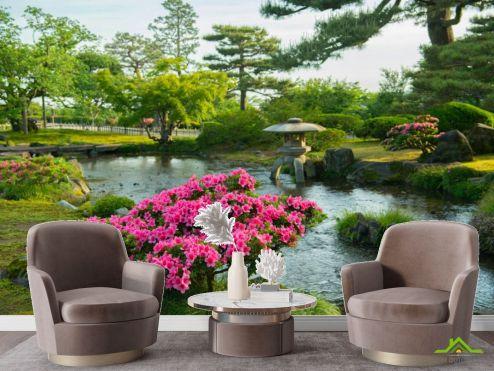 Фотообои в коридор и прихожую по выгодной цене Фотообои Японский сад