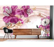Фотообои Шикарные розовые брошки