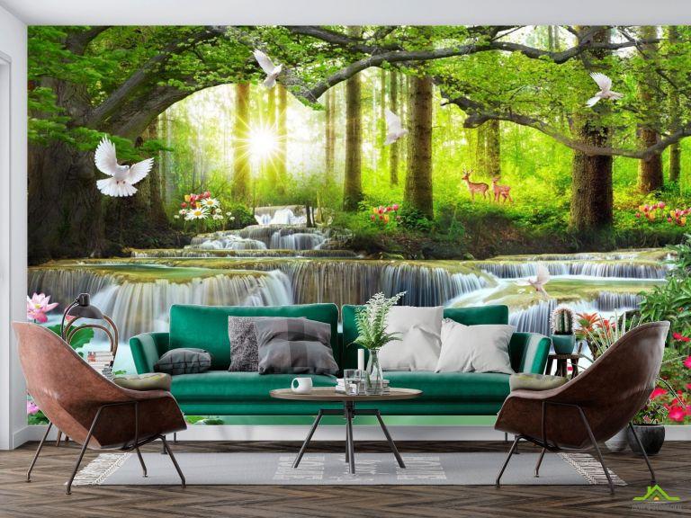 Фотообои Лесной водопад