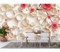 Фотообои в кухню 3д цветы