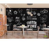 Фотообои Принты с кофе
