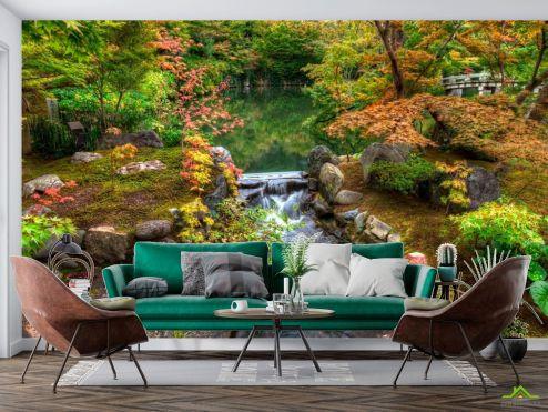 Фотообои Природа по выгодной цене Фотообои Водопад, озерцо