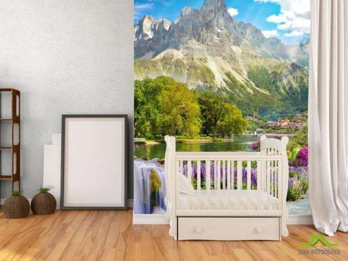 обои Фрески Фотообои большая гора над озером