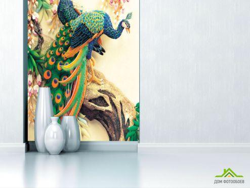 Восточный стиль Фотообои Керамические павлины