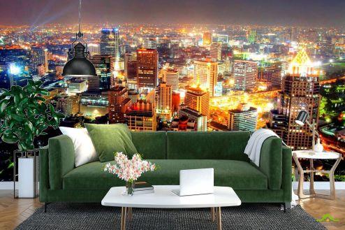 Фотообои Город по выгодной цене Фотообои Вид сверху на ночной город