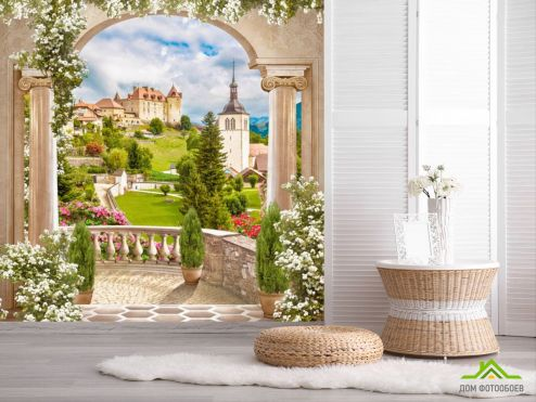 обои Фрески  Фотообои Арка с тосканским видом