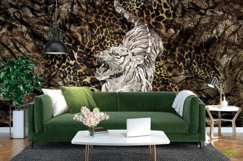 Коричневые  Фотообои Тигр