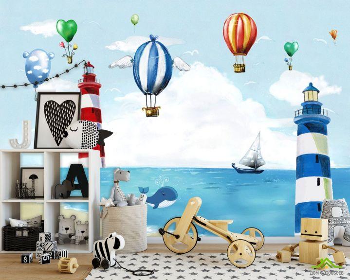 Фотообои Воздушные шары и маяки