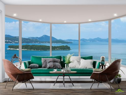 Вид из окна Фотообои Вид из окна на остров