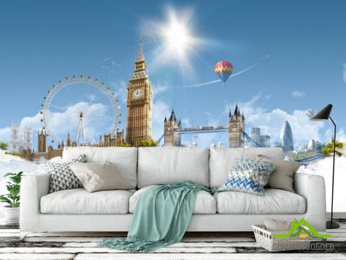 Лондон Фотообои Лондон воблаках