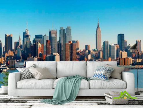 Нью Йорк Фотообои Причал для яхт Нью-Йорка