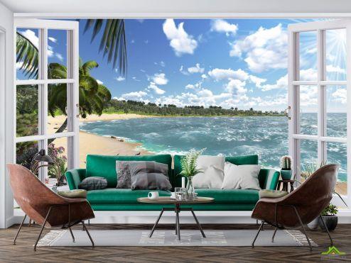 Вид из окна Фотообои Вид из окна на море