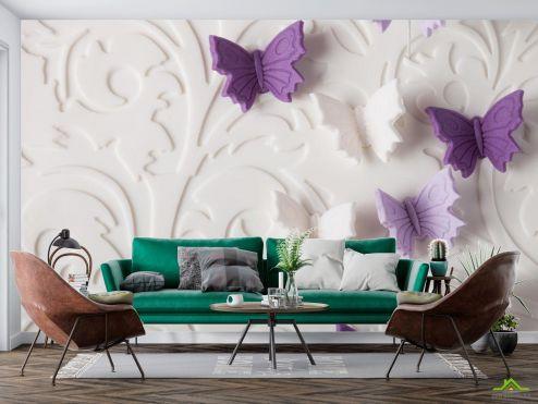 3Д  Фотооои объёмные бабочки