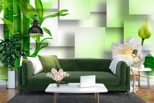 Зеленые  Фотообои Бамбук