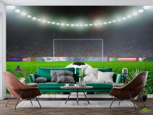 Спорт Фотообои мяч на стадионе купить