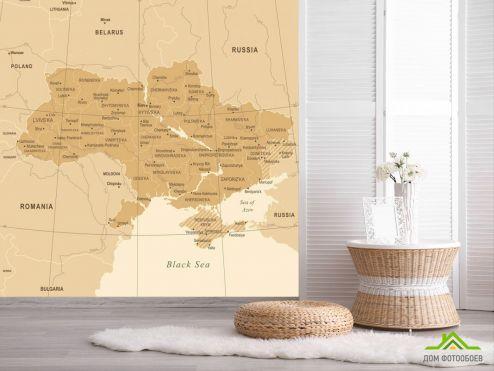 обои Карта Фотообои Административная карта Украины