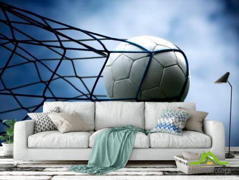 Спорт Фотообои Мяч в сетке
