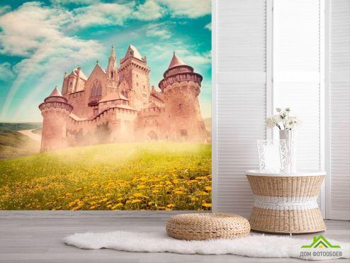 обои Замок Фотообои Замок посреди поля