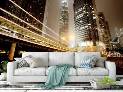 Фотообои Город по выгодной цене Фотообои Ночной мегаполис