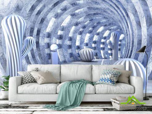 3Д  Фотообои Fluid art разноцветный