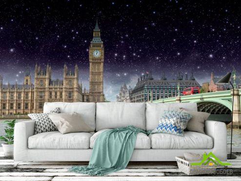 обои Город Фотообои Ночной Лондон