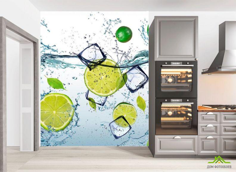 Фотообои в кухню Лайм со льдом