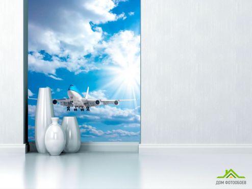 обои Транспорт Фотообои Самолет в облаках