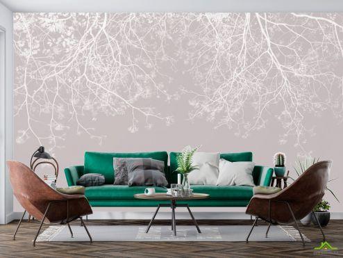 в скандинавском стиле Фотообои Ветки с потолка