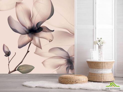 3Д обои Фотообои Абстрактный 3д цветок