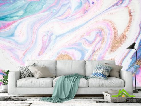 Каменная стена Фотообои Розовый флюид