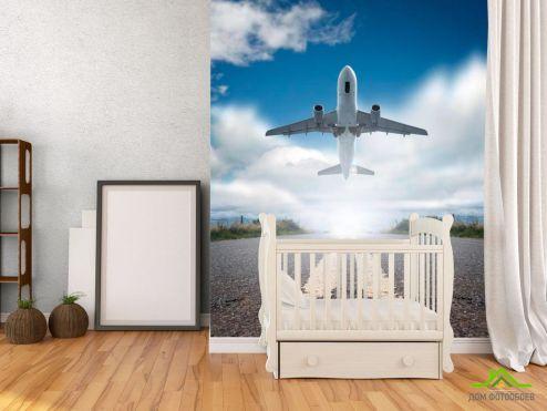 обои Транспорт Фотообои Взлет самолета