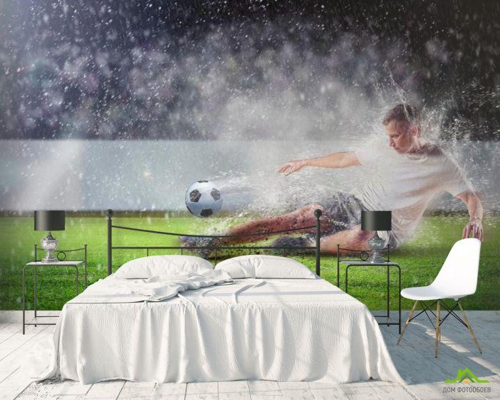Фотообои Игра под дождем
