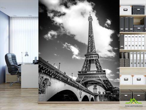 обои Париж Фотообои Париж черно-белый