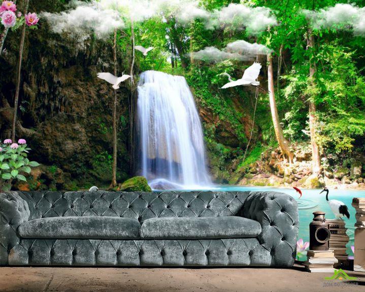 Фотообои 3д водопад