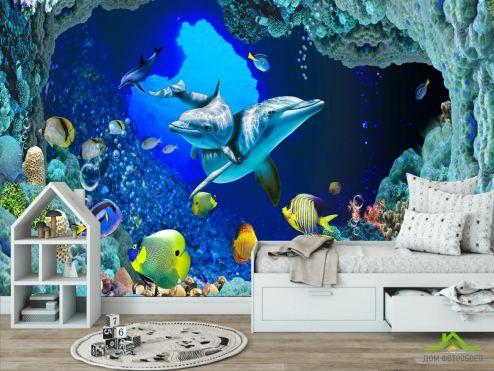 обои в детскую Фотообои Сказочный подводный мир
