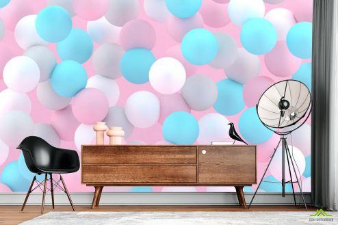 3Д  Фотообои Разноцветные шары