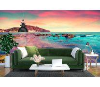Фотообои розовое море и небо