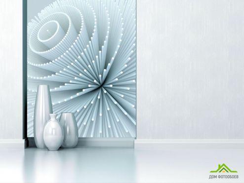 обои 3D объемные  Фотообои Цветок из палочек