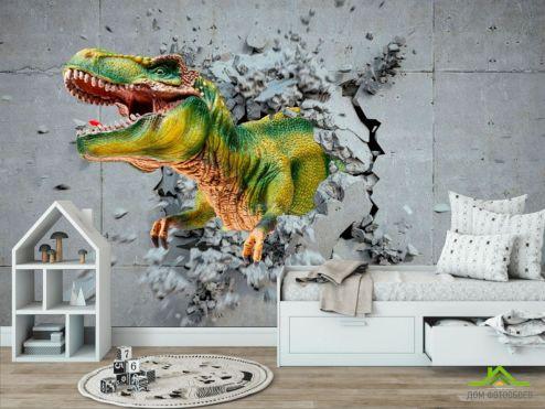 обои в детскую Фотообои Динозавр 3Д