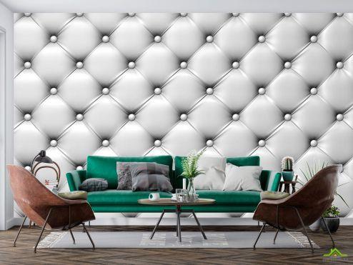 3D объемные Фотообои Белая драпировка стены
