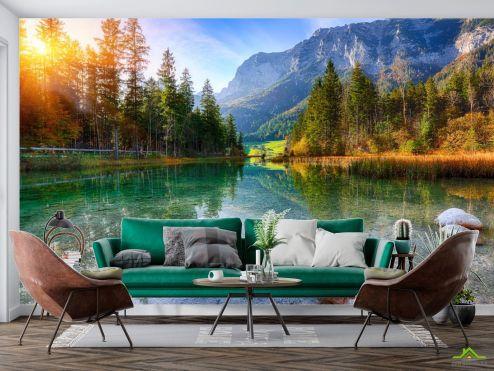 Природа Фотообои прозрачное горное озеро