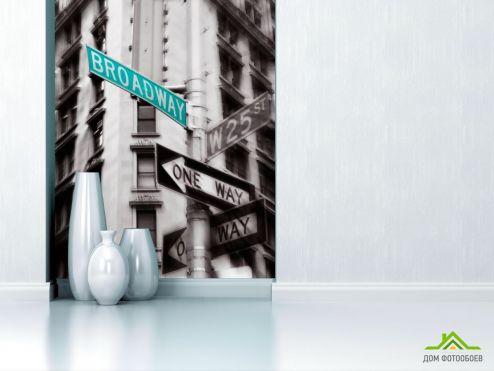 обои Нью Йорк Фотообои Указатели в Нью-Йорке