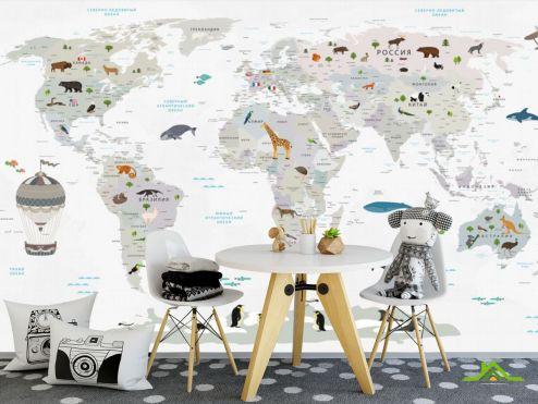 Каталог фотообоев по выгодной цене Фотообои Карта в детскую