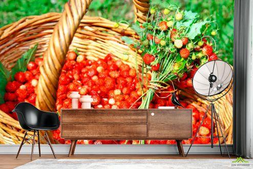 Фотошпалери, колір: «червоний» Суниця