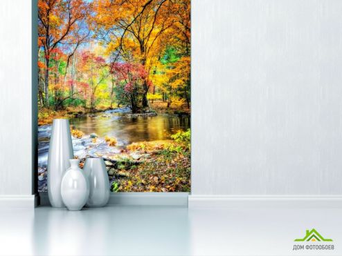 обои Природа Фотообои Осень, вода