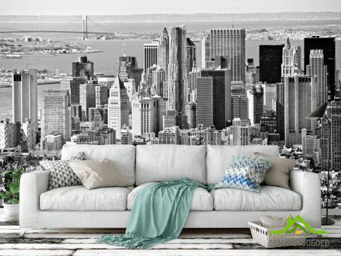 Нью Йорк Фотообои Много высоток New York