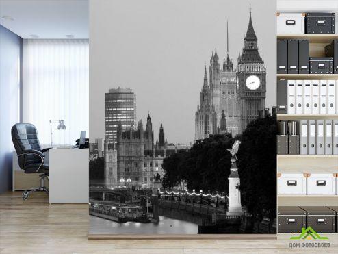 Серые обои Фотообои Биг-Бен в Лондоне