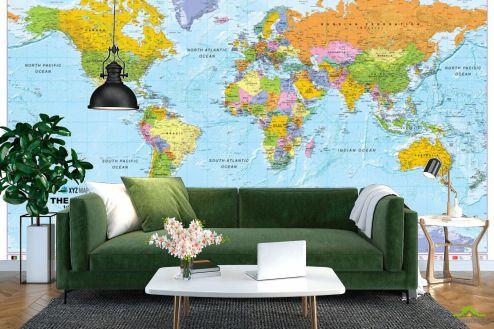Карта Фотообои Карта мира