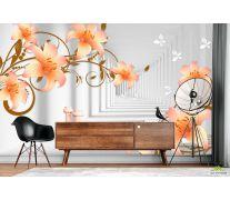 Фотообои Тонель и оранжевые лилии